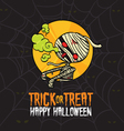 Halloween Trick or Treat Mummy Costume vector image vector image