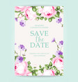 invitation vertical card vector image vector image