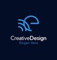 letter e connection creative modern logo vector image vector image