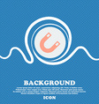 magnet horseshoe sign icon Blue and white abstract vector image