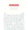Medical Concept - line design brochure poster vector image vector image