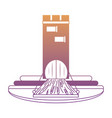 medieval castle tower icon vector image vector image