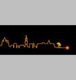 nice light streak skyline vector image vector image
