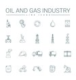 Oil And Gas Industry Line Icons vector image vector image