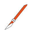 paper scalpel tool vector image vector image