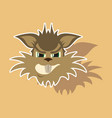 paper sticker on theme evil animal coyote vector image vector image