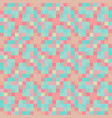 pastel pixel design items seamless pattern vector image vector image