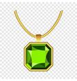 peridot jewelry icon realistic style vector image