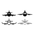 plane icon design template isolated vector image vector image