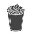 popcorn striped bowl icon vector image vector image