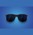 realistic sunglasses isolated on blue background vector image