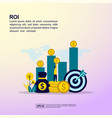 return on investment concept with people vector image vector image
