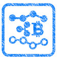 ripple bitcoin trends framed stamp vector image vector image