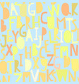 seamless pattern with abc or alphabet vector image vector image