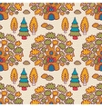 Seamless pattern with oaks vector image vector image