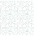 seamless pattern with outlines passenger airplanes vector image vector image
