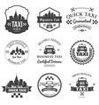 set taxi badges logos and labels vector image