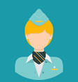 stewardess characte icon great of character use vector image