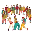 Street dance group people audience isolated vector image vector image