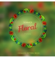 Summer wreath vector image