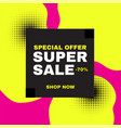 super sale banner abstract design special offer vector image