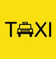 taxi icon symbol vector image