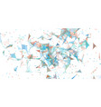 triangle flow dots lines explosion shards of glass vector image vector image