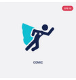 two color comic icon from activity and hobbies vector image