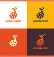 video and music logo and icon vector image