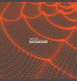 wavy grid background 3d abstract vector image