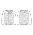 white knitted jacquard cardigan for a toddler girl vector image vector image