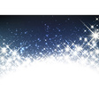 Winter starry christmas banner vector image