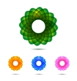 set of abstract circle design elements vector image