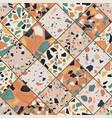 seamless terrazzo pattern vector image