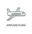 airplaneplane line icon airplaneplane vector image vector image