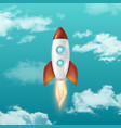 background with retro space rocket ship vector image vector image