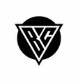 bc logo with negative space triangle and circle vector image vector image