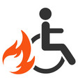 burn patient flat icon vector image vector image