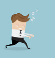 businessman sleepwalking cartoon vector image vector image