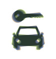car key simplistic sign colorful icon vector image vector image