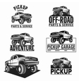 car truck 4x4 pickup off-road logo vector image vector image