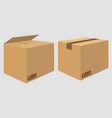 Cardboard close box side view package design