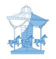 carnival carousel horse circus park festival vector image vector image