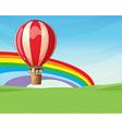 Children riding on a hot air balloon vector image vector image