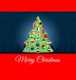 christmas background international christmas tree vector image