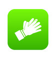 clapping applauding hands icon digital green vector image vector image
