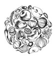 collection of hand drawn autumn vegetables vector image vector image