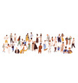 crowd multiethnic male and female person vector image vector image