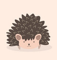 cute hedgehog cartoon character vector image vector image