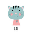 cute little cat animal icon vector image vector image